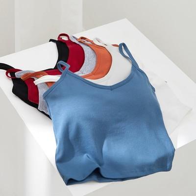 壹家商店吊带背心女带胸垫性感夏外穿内搭网红同款ins潮抹胸内衣