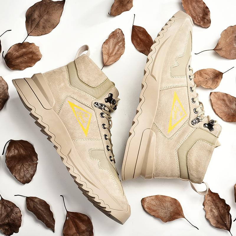 Martin boots mens British style high top work boots Korean version versatile shoes new outdoor desert boots in autumn 2020