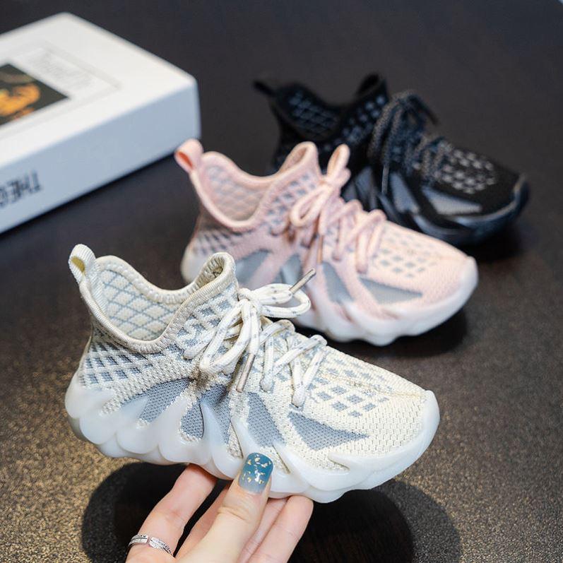 中國代購|中國批發-ibuy99|运动鞋女|女童椰子鞋儿童网面透气运动鞋小女孩透网飞织鞋男童软底跑步鞋