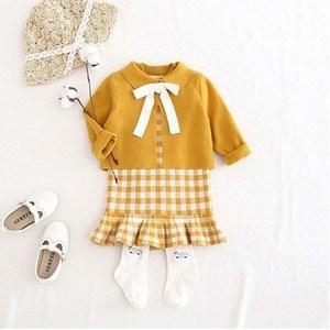 1-5岁女宝宝毛衣套装韩版韩针织衫