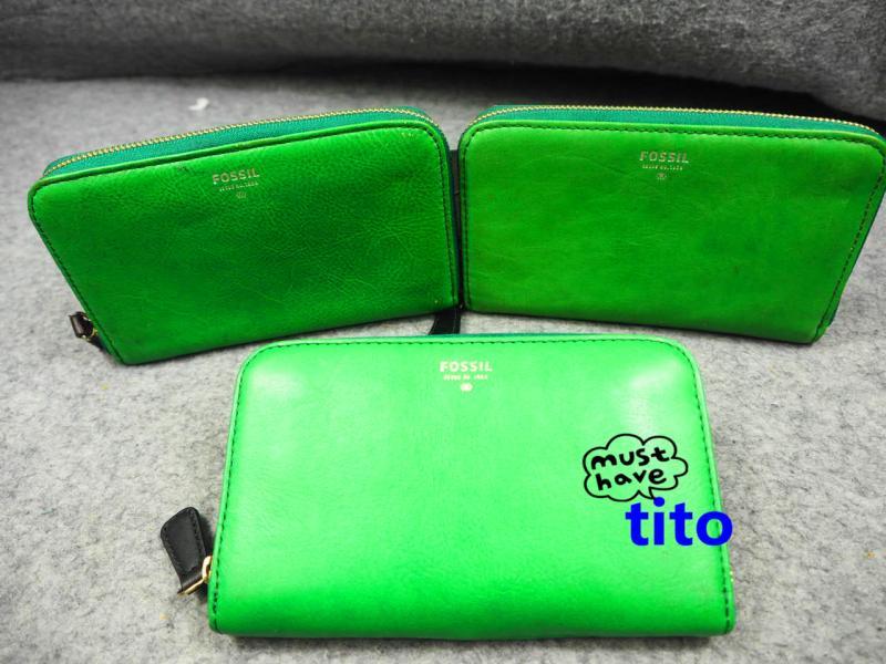 Custom wallet cowhide Wallet Square chain defect 6 wallet womens wallet P atmospheric bag pull defect Wallet Green