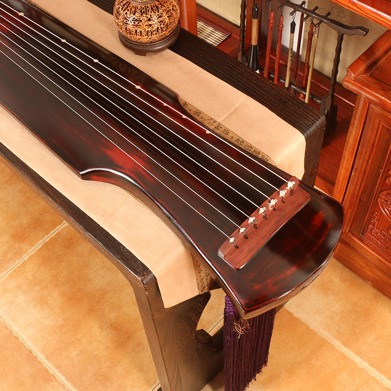新松鹤古琴订制款全生漆手工斫琴红酸枝伏羲式演奏级实木七弦琴乐