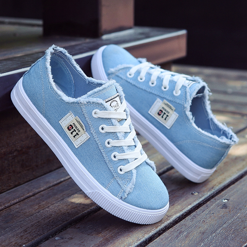 Fall girls versatile flat bottom small white shoes casual shoes Korean version breathable junior high school students sports board shoes canvas shoes