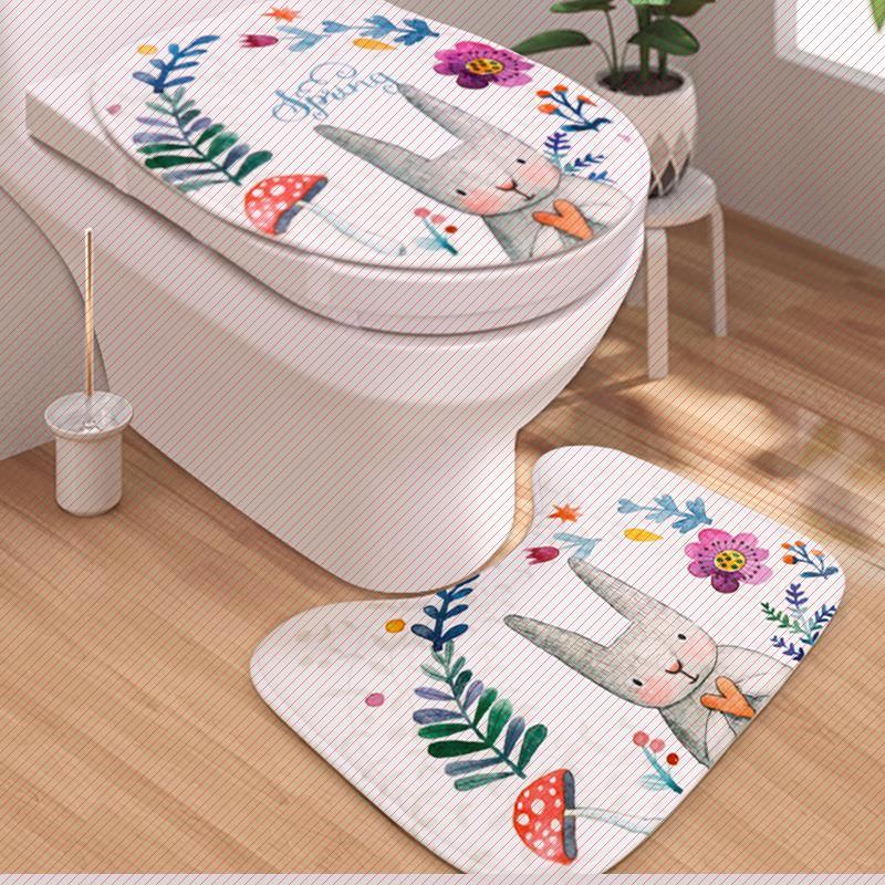 马桶盖套罩卡通套厕所马桶圈套子欧式马桶垫坐便器罩加厚坐便套