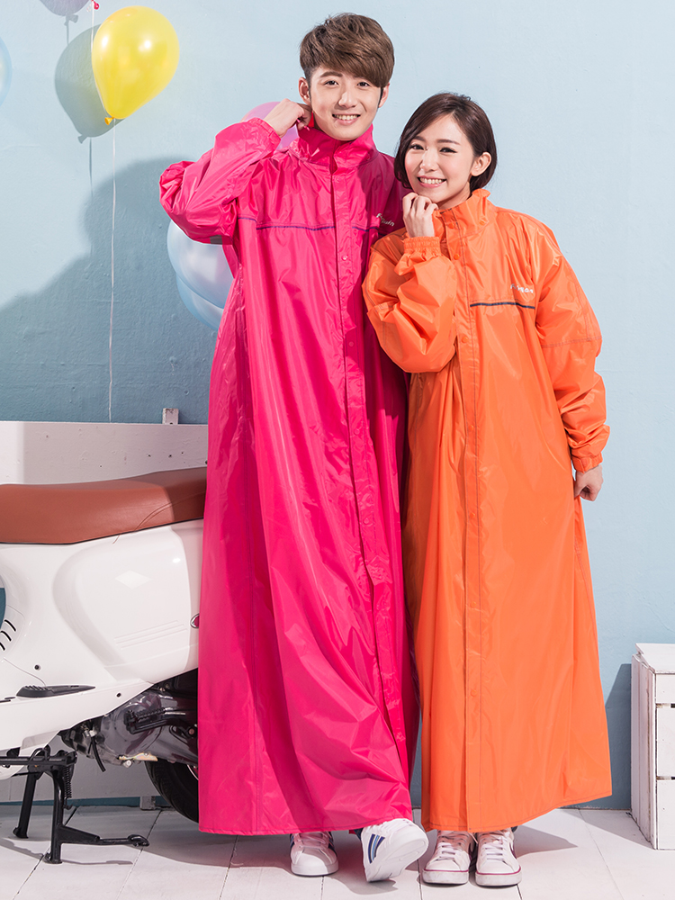 Fashion raincoat long loose breathable windbreaker summer mens and womens adult coat double brim electric motorcycle body