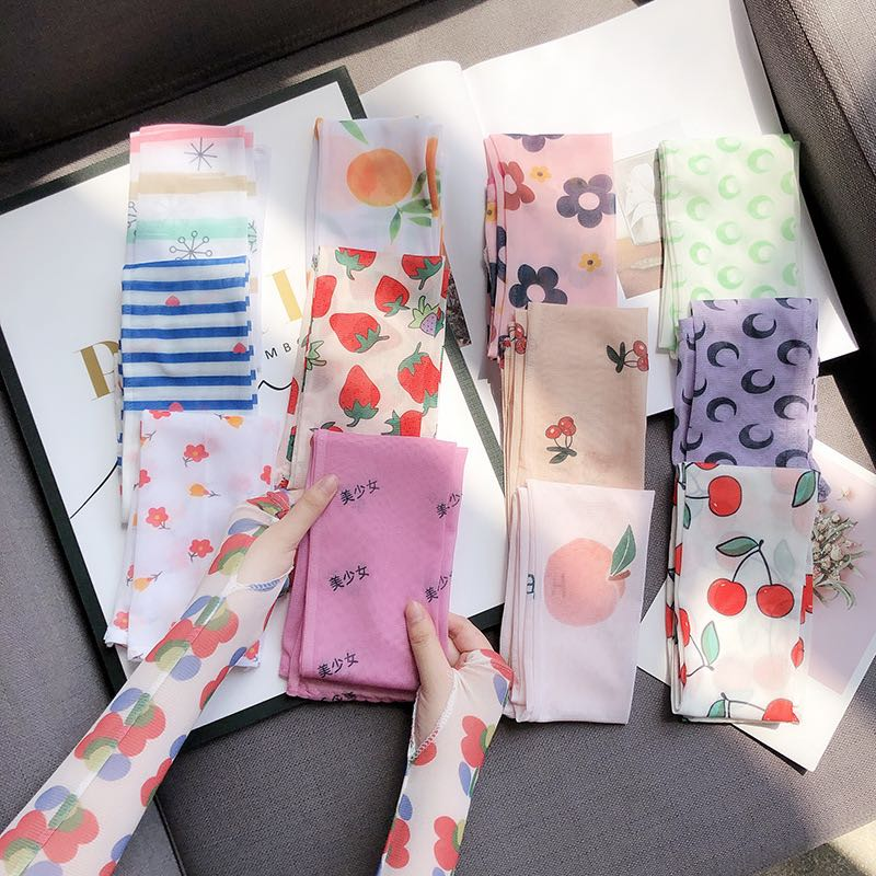 Yuyafeng summer net red ins ice sleeve women sun protection hand sleeve arm protection ice silk gloves UV light driving cycling