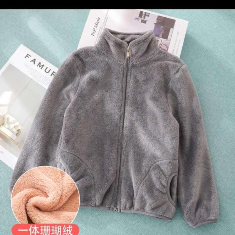 女童外套新款男童保暖秋冬装女宝宝加绒儿童装洋气