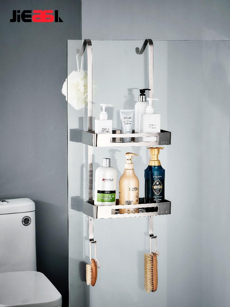 淋浴房置物架浴室洗手间不锈钢壁挂冲凉房挂篮免打孔卫生间收纳架