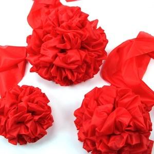 结婚礼绣球大红花球古装手牵花十字披红绸布新郎光荣中式婚庆道具