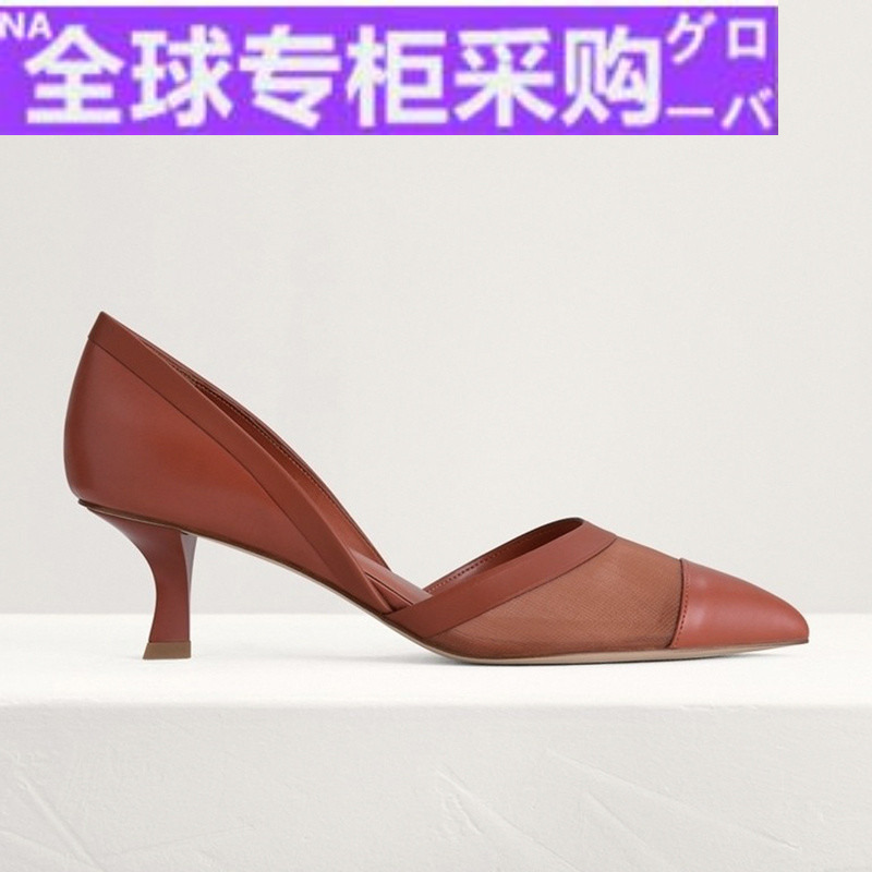 Japan Pedro pointed single shoes pw1-25480213 womens splicing high heel Aussie single shoes