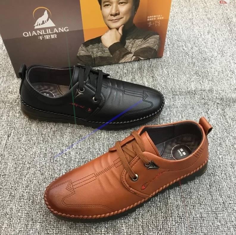 夏季休闲系带男鞋2019新款单鞋男手工缝制皮鞋秋季潮流百搭软面鞋