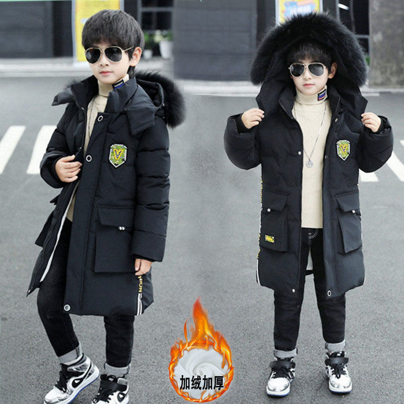 男童棉衣韩版棉服外套中长款风衣棉袄男童装