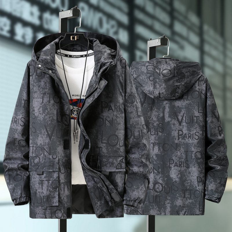 。 350 kg spring and autumn plus fat plus size jacket mens youth jacket fat guy trend fat man large windbreaker
