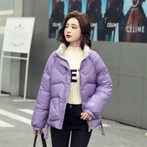 羽绒棉服女短款2020冬季加厚新款小个子棉袄宽松亮面棉衣韩版防寒