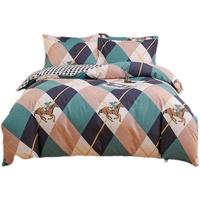 夏季四件套裸睡纯棉100全棉床单被套4三件套单人床上用品被罩套件