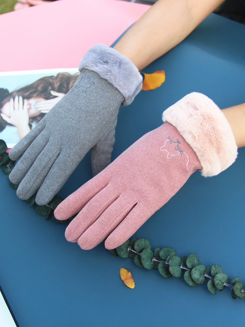 Womens driving gloves for female drivers in winter anti-skid touch screen in autumn and winter lovely and warm