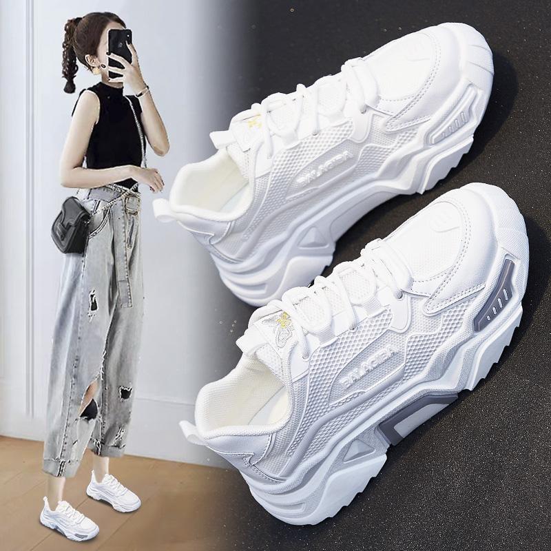 超火透气老爹女鞋2020夏秋新款韩版ins运动鞋女学生增高小白鞋女