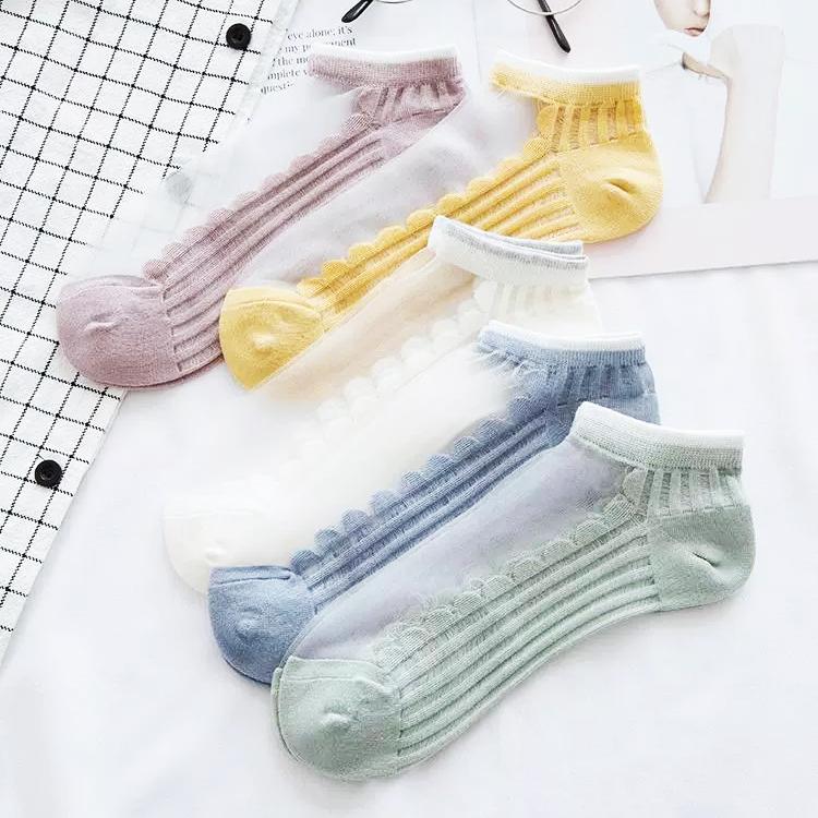 水晶袜女夏季浅口船袜女士薄款卡丝袜子日系ins短袜透明隐形丝袜