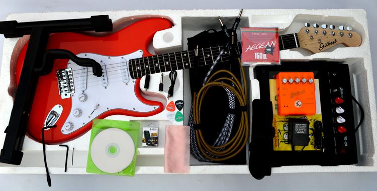 音箱多种套餐加拿大枫木琴头通用家驹红辅助软件入门ST电吉他