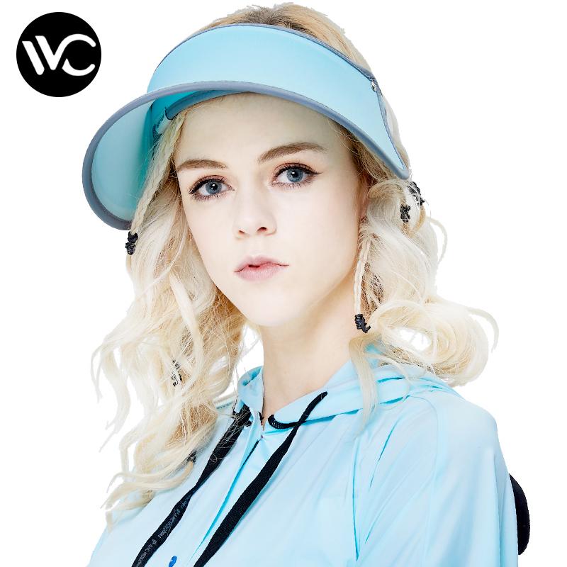 VVC防晒帽女遮阳帽夏季运动户外空顶太阳帽百搭防紫外线女神帽子