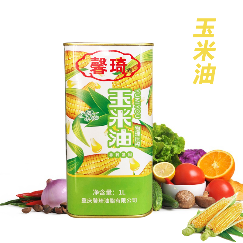 Xinqi Corn Oil 1L package nutrition non transgenic physical pressing first grade germ pure oil edible fragrance