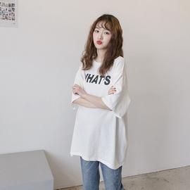 春夏孕妇装时尚韩版孕妇T恤5分中袖宽松大码上衣打底衣一件代发潮