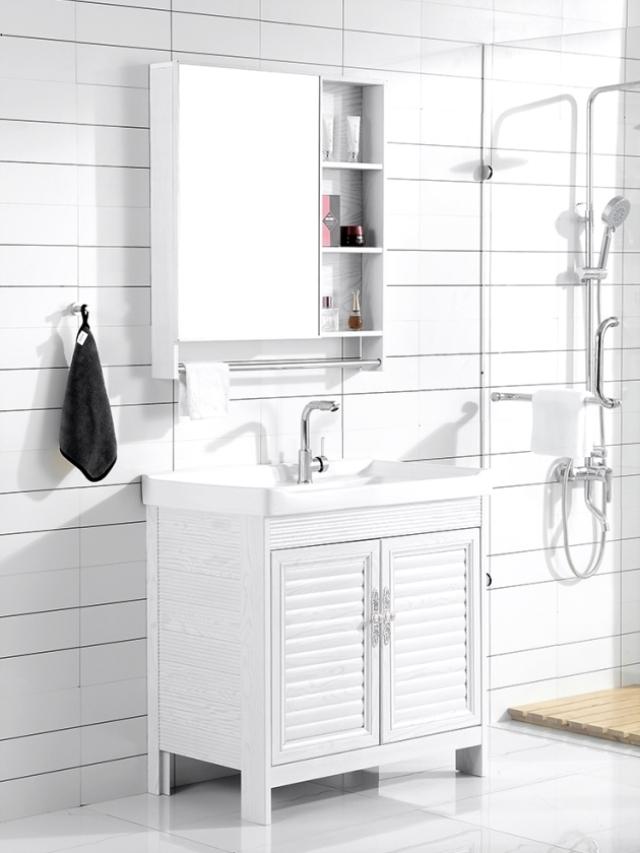 加厚型防水洗衣柜湘菜馆宾馆女卫生间槽公寓白色家庭足浴店立柜豪