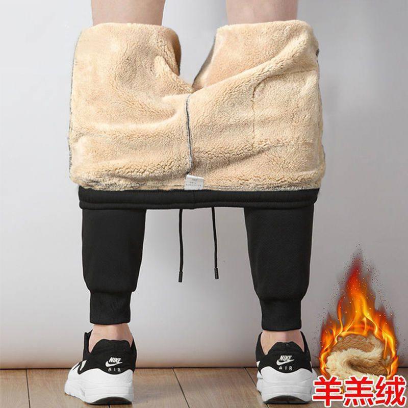 冬装加绒长裤子男士休闲裤加棉裤运动裤