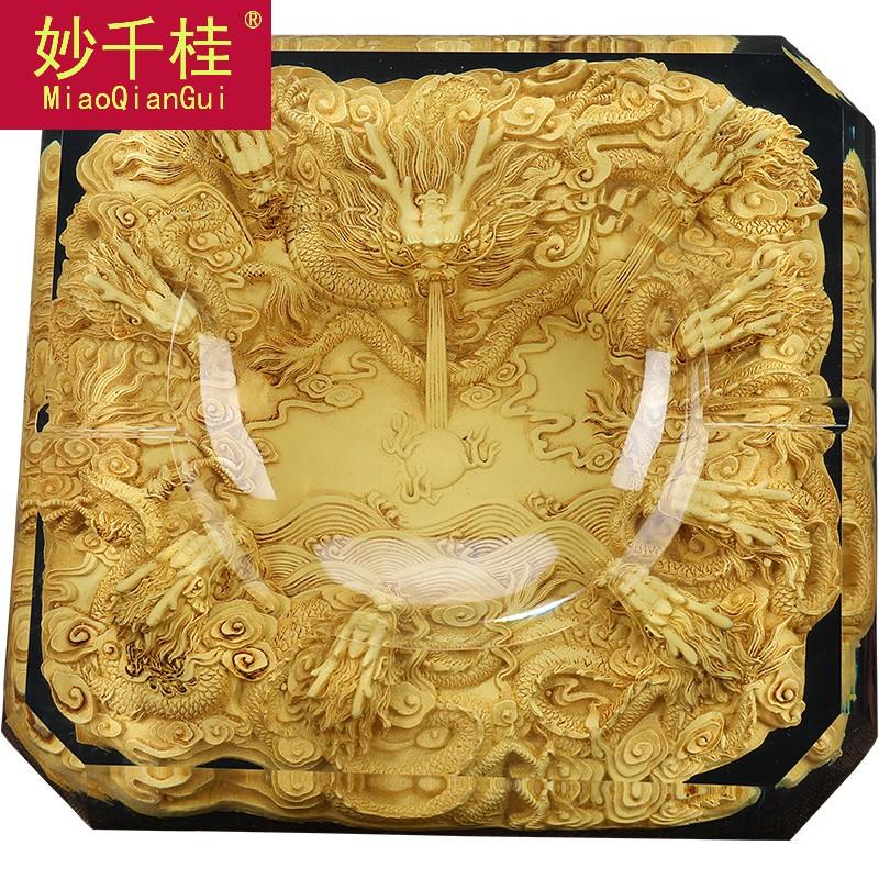 家用客厅茶几中式复古怀旧办公室老板桌水晶仿古九龙烟-九龙茶(妙千桂旗舰店仅售1322.22元)