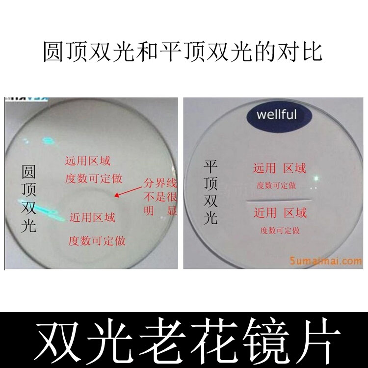 High grade dome double light flat top double light invisible double light double focus color changing double light color changing presbyopia lens