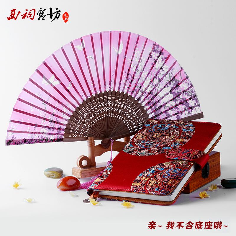 中国风蜀锦成都特色纪念品礼物送老外国人笔记本礼盒商务定制logo