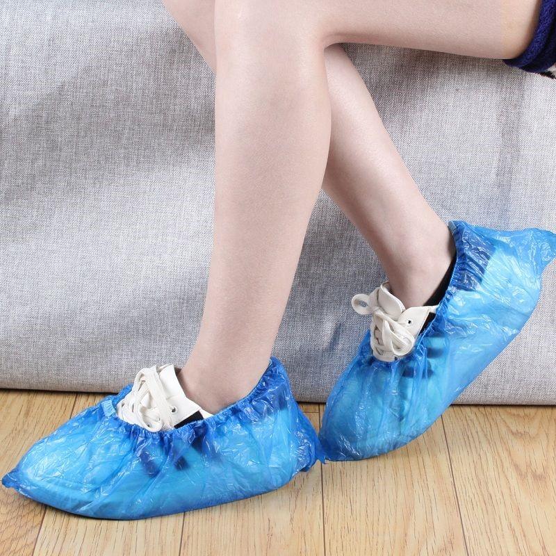 一次性鞋套加厚防水防臭脚套下雨天家用室内客人防尘塑料套