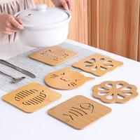 大垫碗卡通防滑餐桌垫大号木质家用砂锅垫子隔热防烫垫盘杯垫桌面