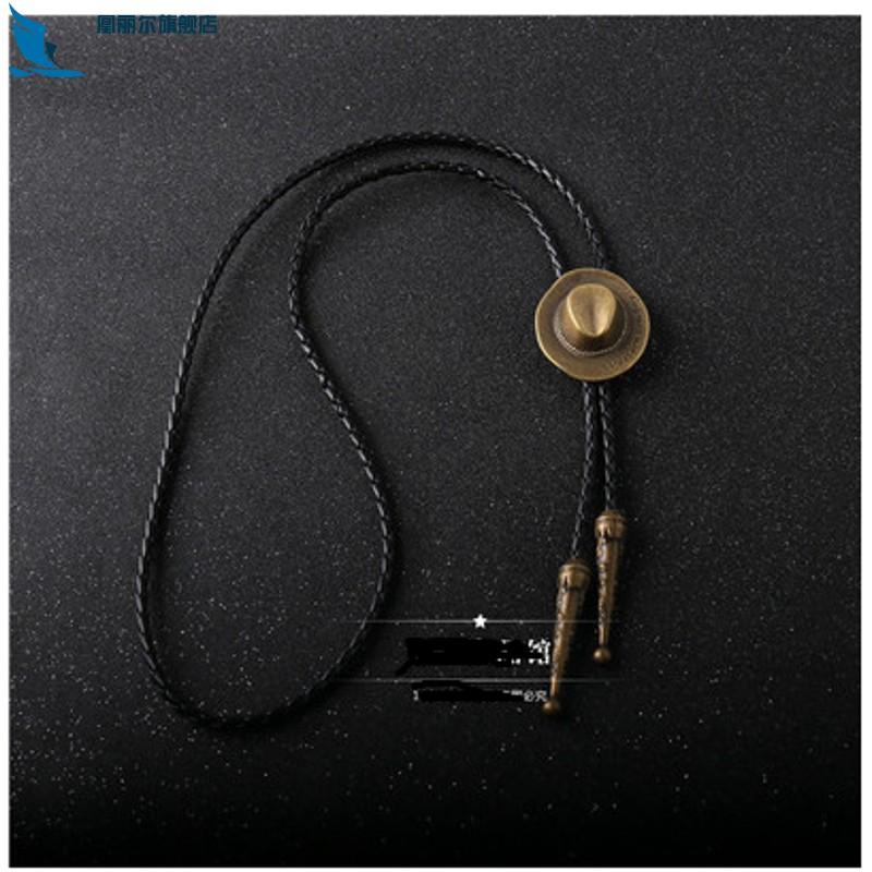 Leather clothes fashion pendant shirt hanging neckline versatile piece rope retro hanging mens necklace hanging accessories pendant accessories mens wear