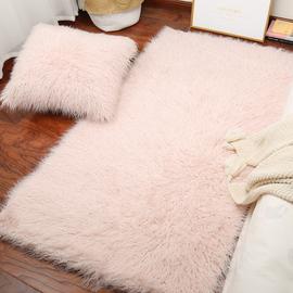 懒人diy地毯地毯卧室少女可爱满铺长毛绒地毯仿滩羊毛沙发毛毯垫