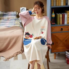 长袖睡裙女2020年新款睡衣春秋冬季纯棉可爱日系大码公主风可外穿