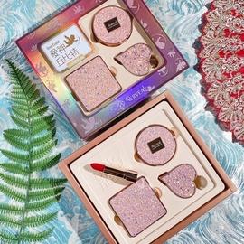 獨角獸星空口紅大牌正品禮盒套盒氣墊BB霜定妝粉彩妝套裝生日禮物圖片