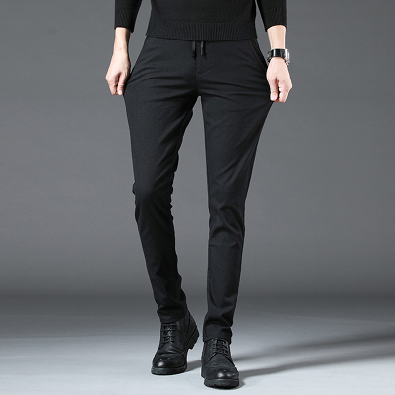 Hot spring and Autumn New Korean mens casual pants SLIM STRAIGHT pants trend youth simple leg pants