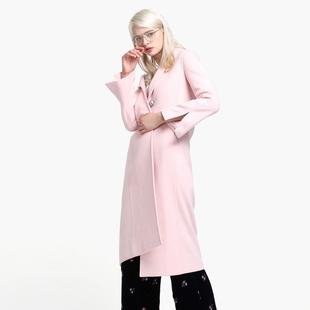ochirly欧时力秋冬装 领长款 开叉袖 毛呢外套1JZ3349710 西装