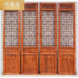 屏風隔斷折屏客廳臥室中式復古實木折疊移動住宅家具木雕XL0923