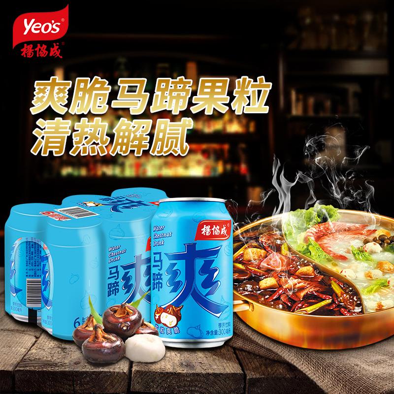 杨协成马蹄爽 甘蔗汁荸荠饮料水果肉果粒 火锅植物饮品 300ml
