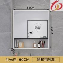 實木浴室鏡柜掛墻式衛生間防水儲物鏡箱廁所洗手間梳妝鏡帶置物架