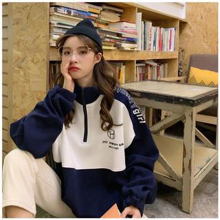 超值女装好货热卖2020年新款长袖半高领卫衣秋季女韩版宽松撞