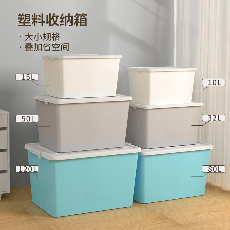 SPACEXPERT收纳箱塑料特大号家用衣服学生宿舍储物箱车载整理箱
