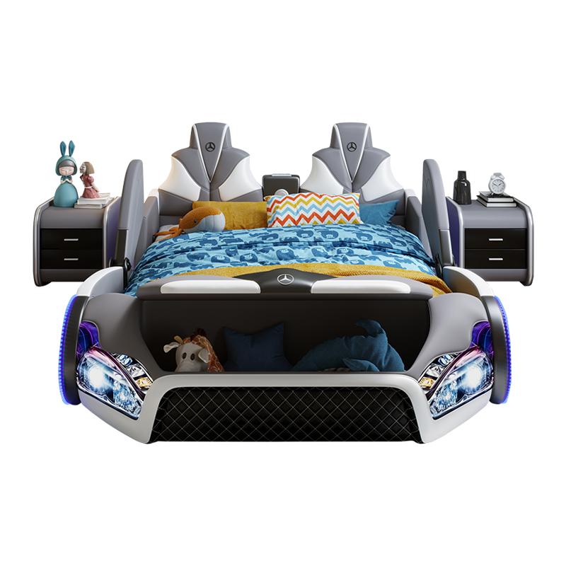 创意儿童床男孩1.5 m带护栏汽车床怎么样