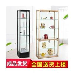 眼镜店柜台展示柜透明全透明手办柜子模型展示架玻璃门办公室烟柜