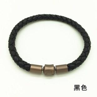 包郵粗款皮繩手鍊適用於周生生XL轉運系列珠等大孔徑飾品手繩