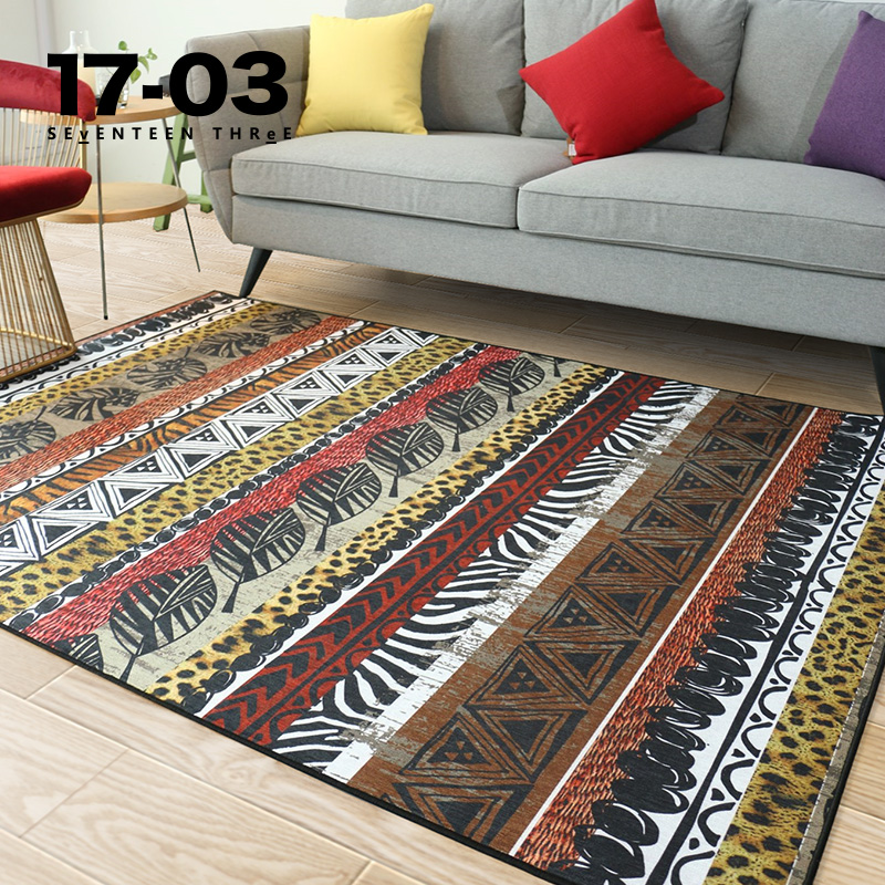 New 17-03 Serengeti living room tea table carpet bedroom bedside designer chenille North American folk products