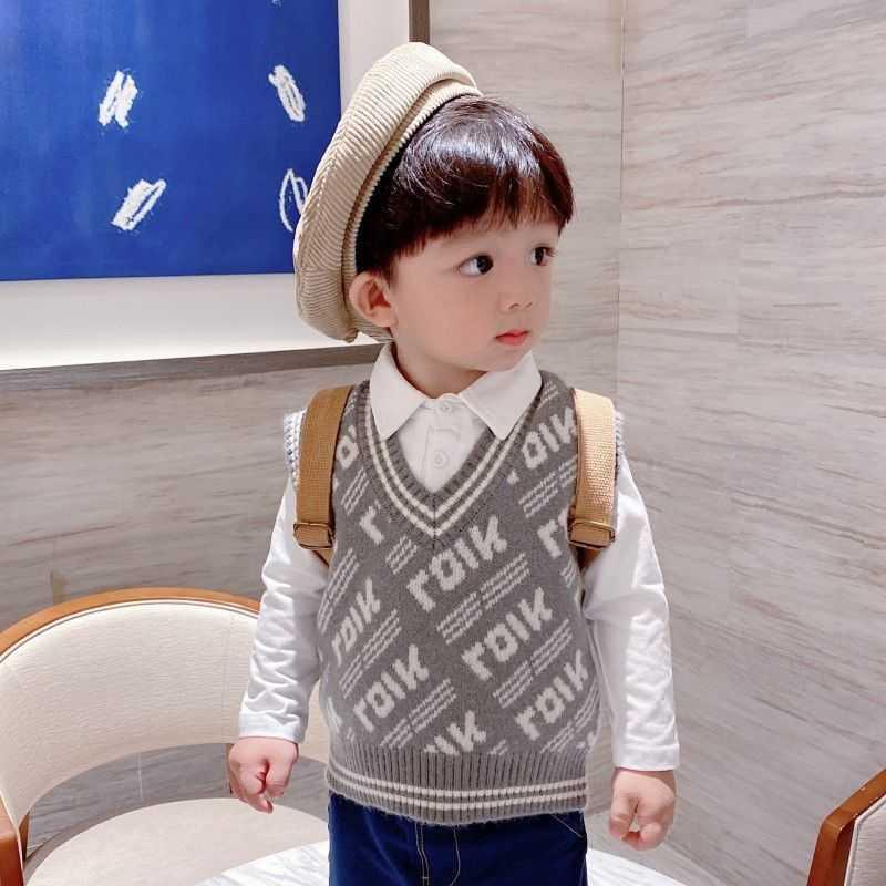 中國代購|中國批發-ibuy99|毛衣男|童装男童马甲2021春秋韩版宝宝针织衫中小童毛衣无袖背心百搭上衣