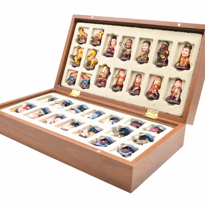 中国象棋三国人物象棋脸谱民族风北京特色送老外的礼物外国人礼品